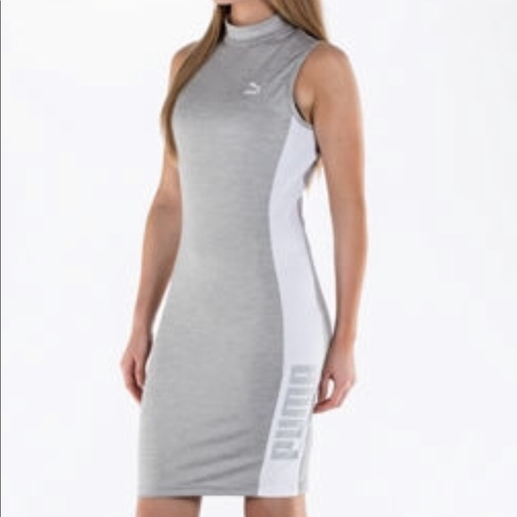 04217f5d667 Puma T-7 Women s bodycon dress light grey